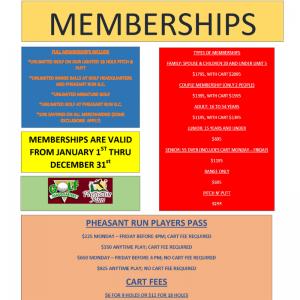 Pheasant Run 2019 Membership
